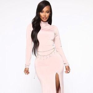 Blush fashion nova maxi dress brand new
